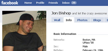 Jon Bishop Facebook Profile