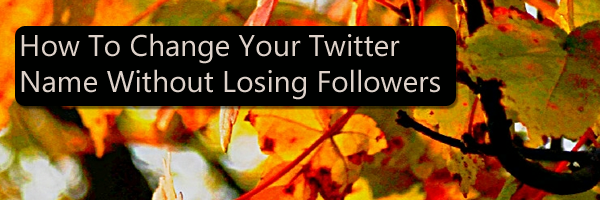 How To Change Your Twitter Name Without Losing Followers