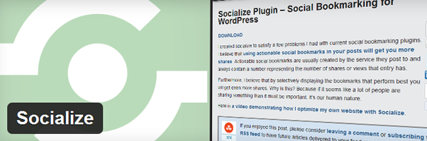 Socialize Plugin Page – Social Bookmarking for WordPress