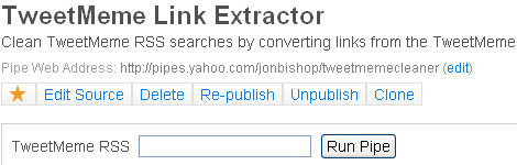 TweetMeme Link Extractor