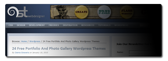 24 Free Portfolio And Photo Gallery WordPress Themes