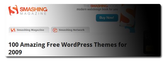 100 Amazing Free WordPress Themes for 2009