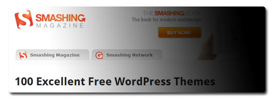 100 Excellent Free WordPress Themes