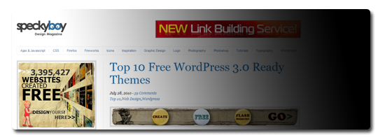 Top 10 Free WordPress 3.0 Ready Themes