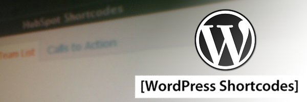 WordPress and Shortcodes