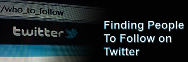 New To Twitter? Learn Who To Follow