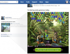 PlayGamesDirectlyinNewsFeedFacebookDevelopers